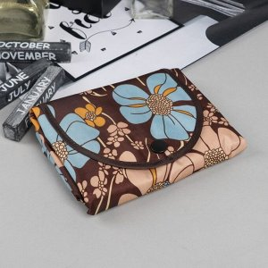 Сумка хозяйственная «Весна», трансформируется в кошелёк, водонепроницаемая, цвет коричневый