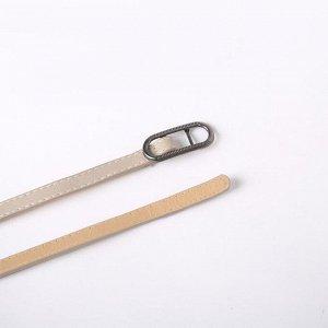 Ремень женский, ширина 1,1 см, гладкий, пряжка металл, цвет серый