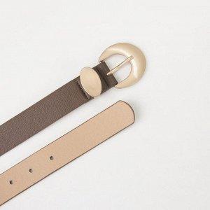 Ремень женский, ширина 2,8 см, флотер, пряжка металл, цвет коричневый
