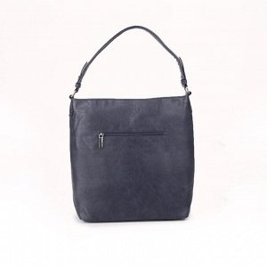 Сумка женская, отдел на молнии, 2 наружных кармана, цвет синий