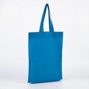 Сумка хозяйственная, отдел без застёжки, без подклада, цвет светло-синий