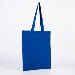Сумка хозяйственная, отдел без застёжки, без подклада, цвет синий