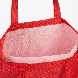 Сумка хозяйственная, отдел без застёжки, без подклада, цвет красный