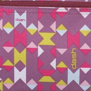 Сумка хозяйственная «Мозаика», трасформер, отдел на молнии, наружный карман, цвет красный
