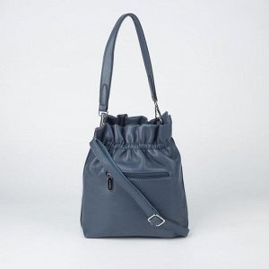 Сумка женская, отдел на молнии, наружный карман, 2 ремня, цвет синий