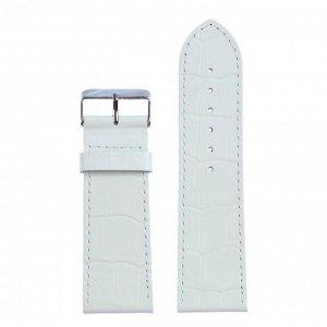 Ремешок для часов, натуральная кожа, 28 мм