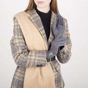 Перчатки женские безразмерные, без утеплителя, для сенсорных экранов, цвет серый