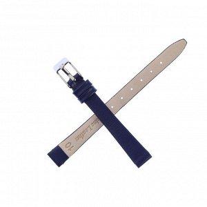Ремешок для часов, женский,  10 мм, натуральная кожа, синий