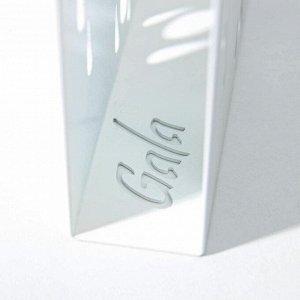 Салфетница «Капли», цвет белый