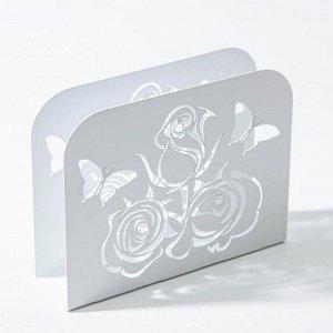 Салфетница «Розы», цвет белый