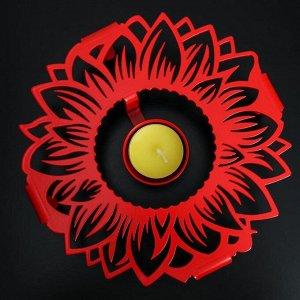 Подставка для подогрева «Подсолнух», d=18,6 см, цвет красный