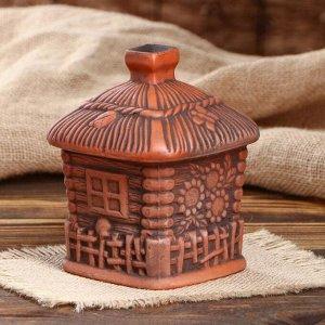 """Набор для специй """"Домик"""", красная глина, 0.5 л"""
