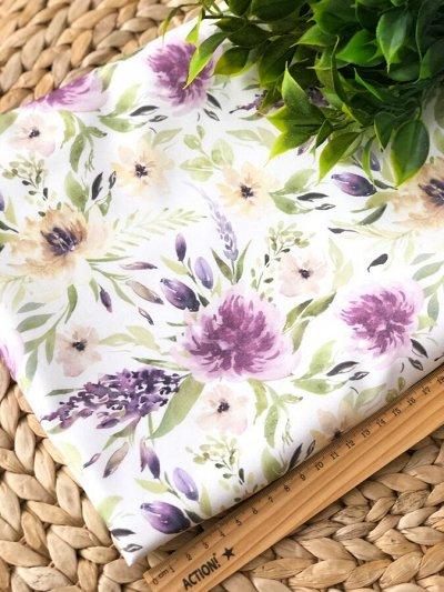 Швеюшка - Ткани на любой вкус — Сатин цветы и зелень — Ткани