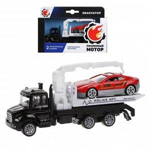 Эвакуатор ин., металлическая кабина, металлическая мини машина, черн.