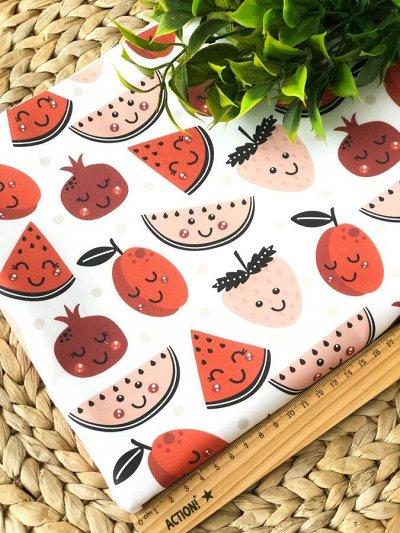 Швеюшка - Ткани на любой вкус — Кулирная гладь сладости и фрукты — Ткани