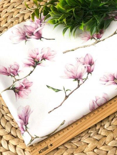 Швеюшка - Ткани на любой вкус — Футер цветы и зелень — Ткани