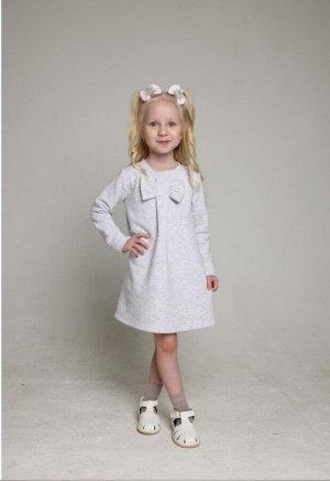 Платье Футер. Цвет серый
