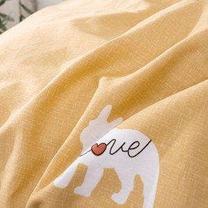 Комплект постельного белья Делюкс Сатин на резинке LR330