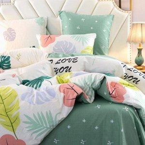 Комплект постельного белья Делюкс Сатин на резинке LR345
