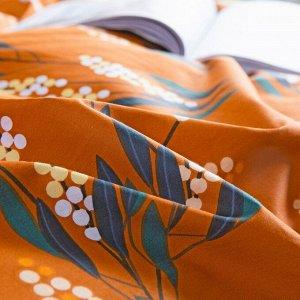 Комплект постельного белья Делюкс Сатин на резинке LR348