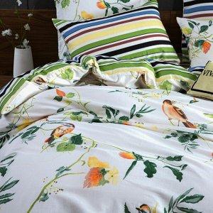 Комплект постельного белья Делюкс Сатин на резинке LR321