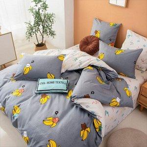 Комплект постельного белья Делюкс Сатин на резинке LR337