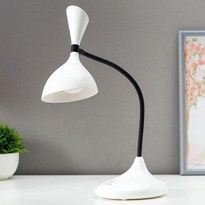 Лампа настольная сенсорная 16089/1WT LED 3Вт USB АКБ 3000-6000К бело-черный 11х17,5х39 см
