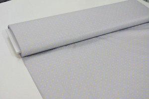 Ткань сатин - Звёзды на сером фоне 0,5*1,6м