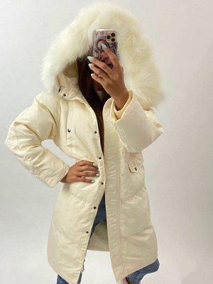 Куртка Тинсулейт - лебяжий пух  Замеры изделия ОГ-112, Длина рукава по внутреннему шву-45, Длина изделия-101см. Евро зима