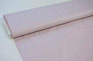 Ткань сатин - Розвые и серые полоски 0,5*1,6м