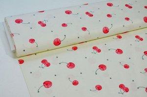 Ткань сатин - Вишенки 0,5*1,6м