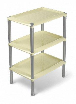 Этажерка Этажерка 3-х секц прямоуг [ДЖЕТА]. Этажерка позволит организовать пространство в небольшом помещении, например в прихожей или ванной. Пластик хорошо переносит влажность. Ухаживать за ним такж