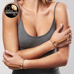 Bijoux Indiscrets MAZE Hand Braslet Harness, Brown. Браслеты коричневые