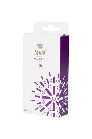 Презервативы AMOR Микс (MIX) №15, 18 см