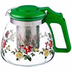 Заварочный чайник agness с фильтром 900 мл. (кор=36шт.)