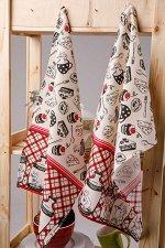 Кухонное полотенце Мыши В Банках Цвет Красный (45х73 см - 2 шт)