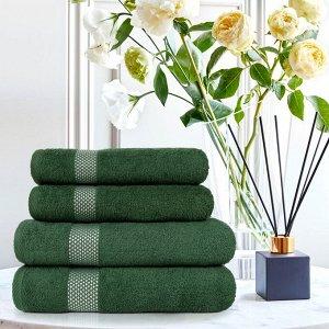 Набор из 4-х полотенец Petek Crystal Цвет Зеленый (50х90 см - 2 шт,70х140 см - 2 шт)
