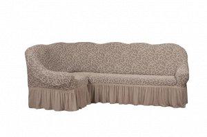 Чехол для мебели Marea левый угол Цвет Натуральный (Трехместный)