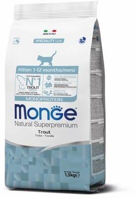 Monge Cat Monoprotein корм для котят с форелью 1,5кг