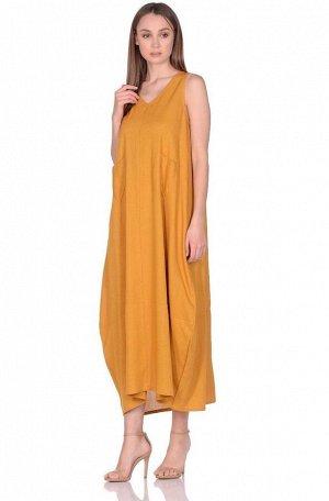 Платье женское №229 р-р: one size, цв. горчичный