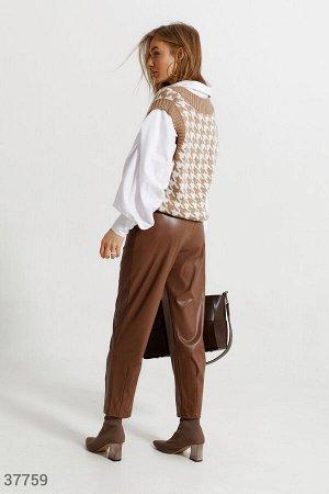 Свободные брюки шоколадного оттенка