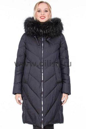 Пальто с мехом Mishele 320021 Е_Р (Синий NE7)