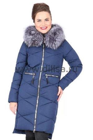 Пальто с мехом FineBabyCat 361-1_Р (Синий)