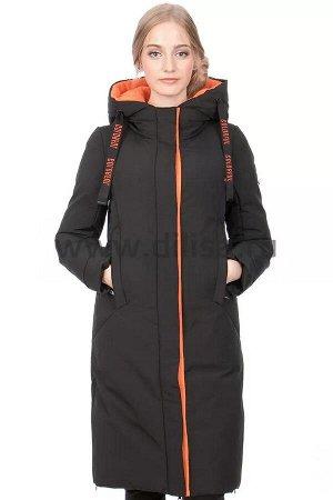 Пальто Towmy 3309_Р (Черный/Оранж 010)