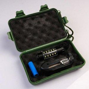 Фонарь аккумуляторный, 5 Вт, 3 Вт по бокам, 600 mAh, 3.7 В, 20 led,  5 реж, 8.6х2.2 см