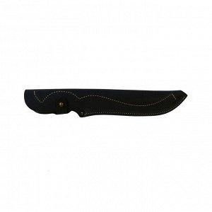 Чехол для ножа закрытый большой, с лезвием длиной 20 см, кожаный, микс цветов