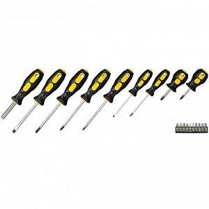 STAYER MAX-Range-19 набор: отвертка-битодержатель с насадками 19 шт