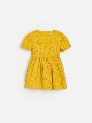 Ажурное платье из органического хлопка