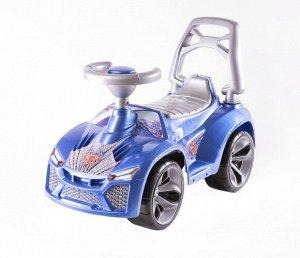 Машина-каталка Ламбо муз. руль цв.синий ,70*28*45 см