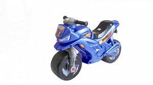 Мотоцикл (толокар) 2-х колесный муз. руль цв. синий,68*28,5*47 см